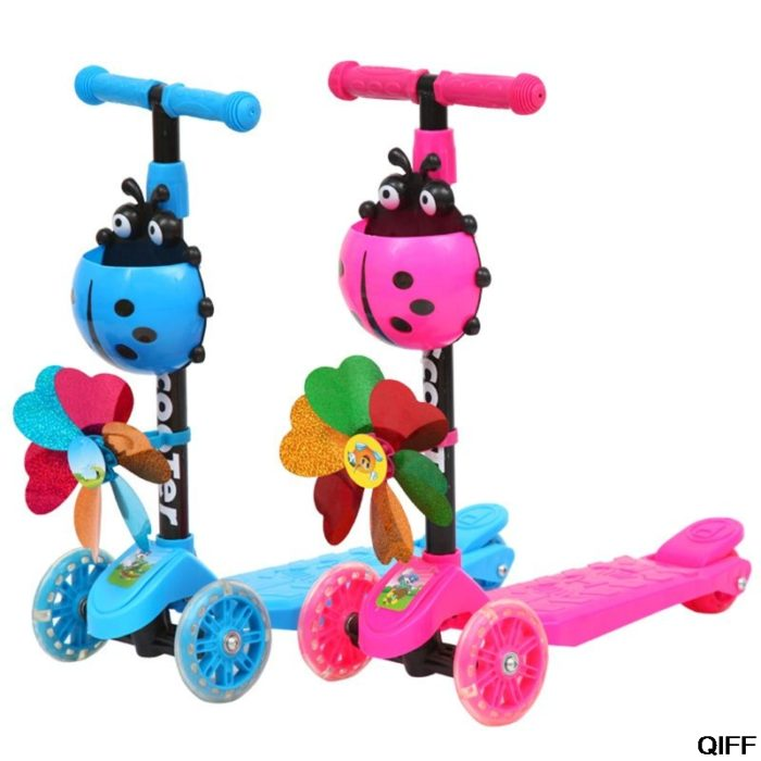 Girls Scooter Kids Foldable Ride