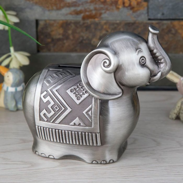 Elephant Piggy Bank Savings Box