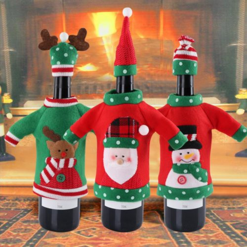 Wine Bottle Covers Christmas Decoration
