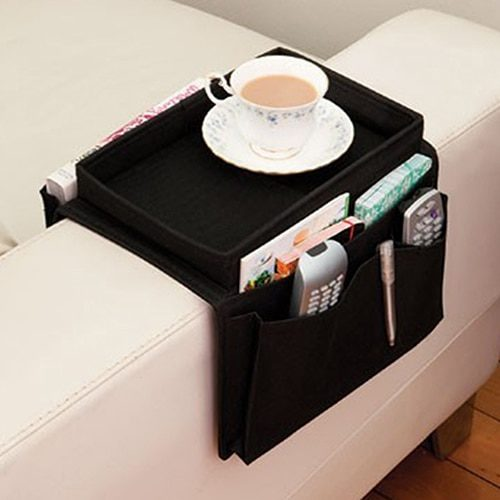 Sofa Arm Table Multi-Pocket Bag