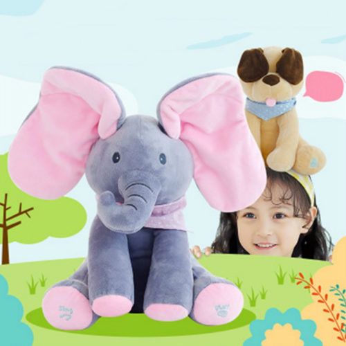 Peek A Boo Elephant Musical Plush