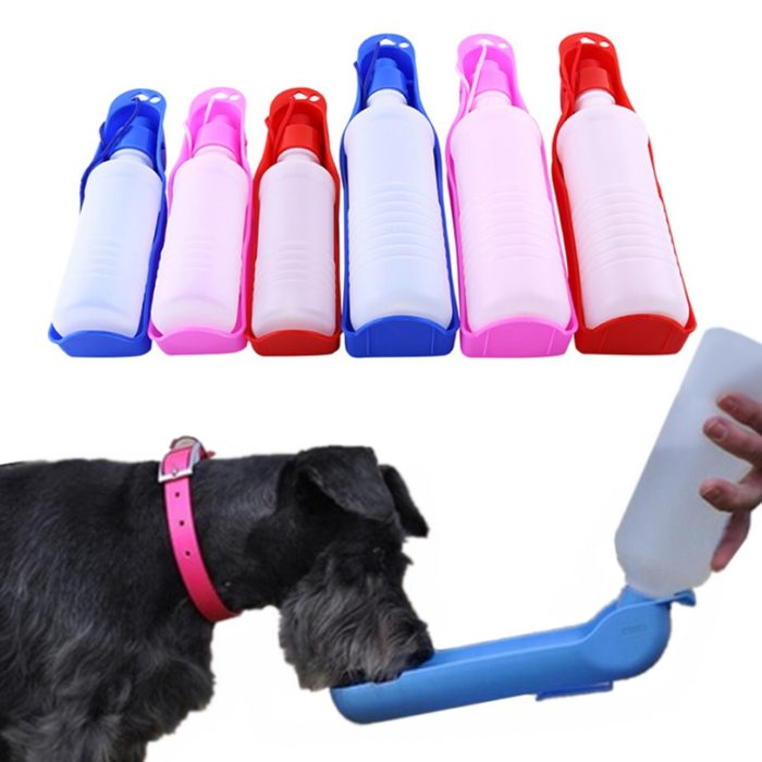 Dog Travel Water Bottle Bowl Feeder