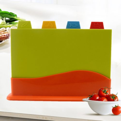 Colour Coded Chopping Board 4PC Set