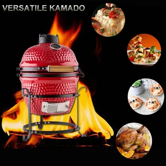 Mini BBQ Grill Outdoor Ceramic Cooker