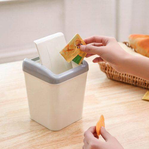 Mini Trash Can Table Dust Bin