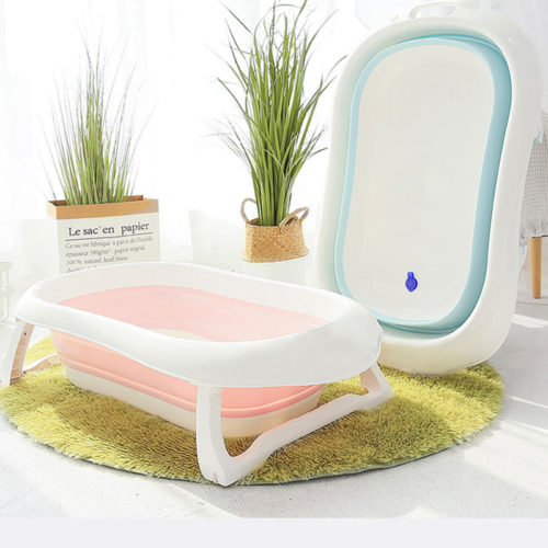 Newborn Baby Bath Tub Foldable Container