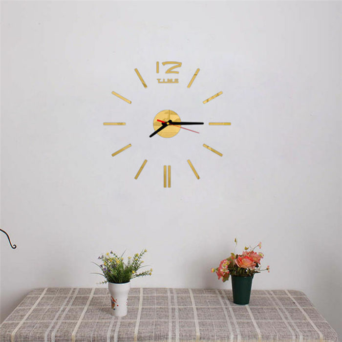 DIY Wall Clock 3D Home Decor