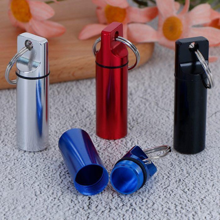 Keychain Pill Holder Waterproof Case