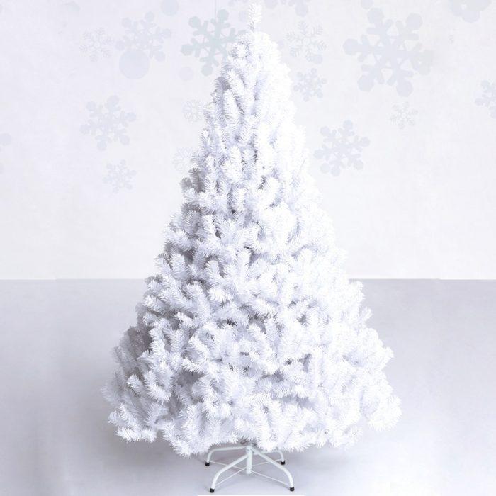 White Christmas Tree Holiday Decor