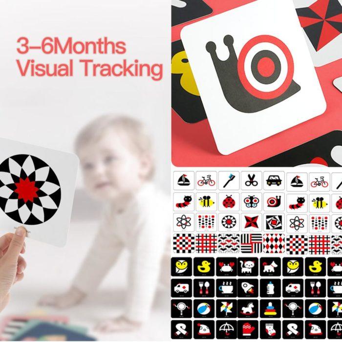 Baby Flash Cards Visual Stimulation Card