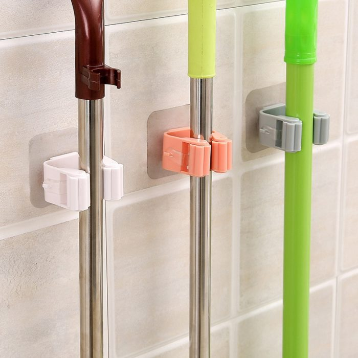 Mop Holder Wall-Mounted Clip