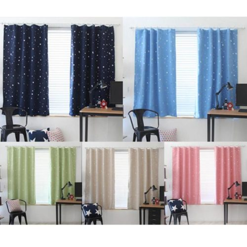 Room Curtains With Star Patterns