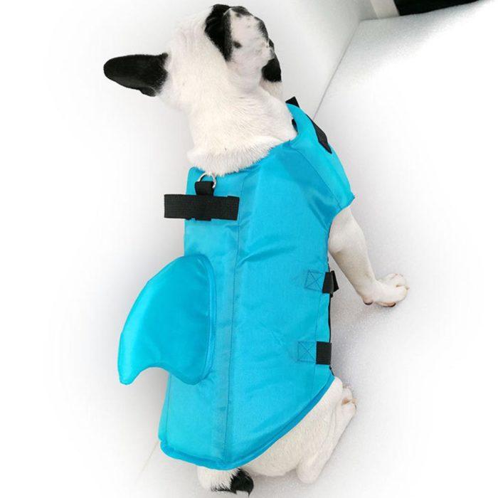 Dog Shark Life Jacket Adjustable Straps