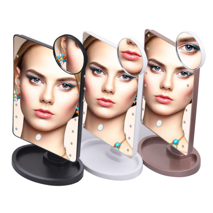 Magnifying Mirror with LED Lights