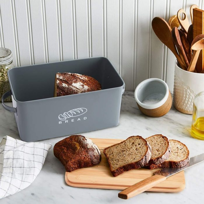 Bread Box with Bamboo Cutting Board