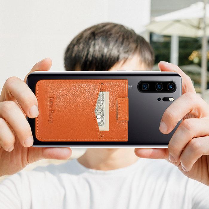 Phone Card Holder Leather Back Pocket