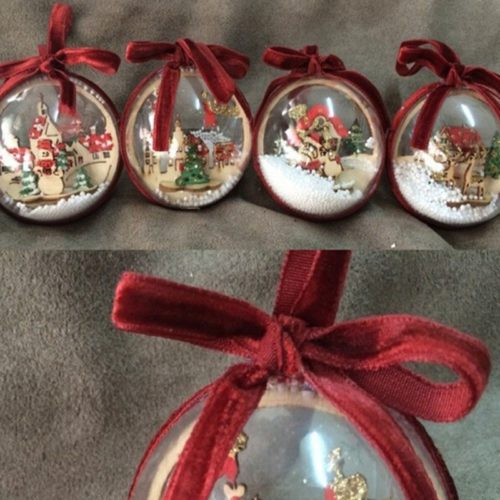 Christmas Ball Ornament Hanging Snow Globe
