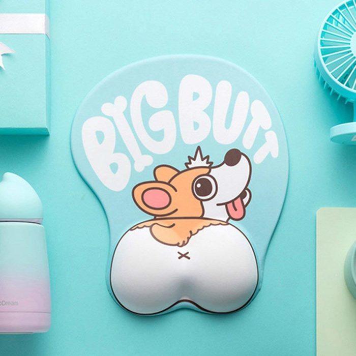 Cute Mouse Pads 3D Corgi Dog Design