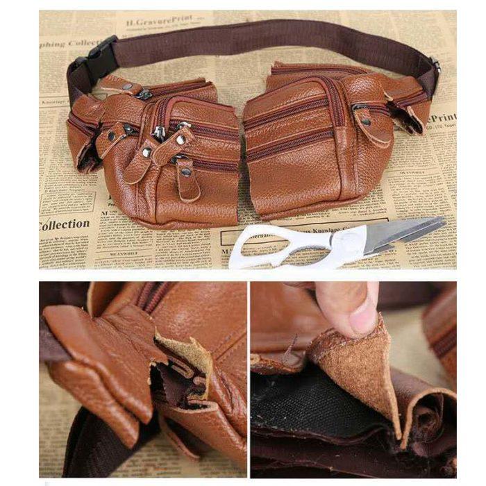 Leather Waist Bag Men's Vintage Bag