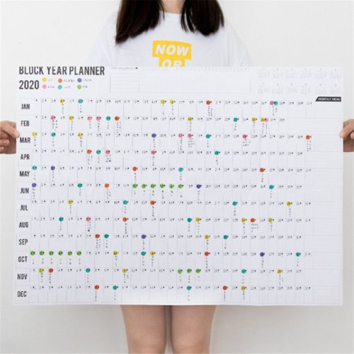 2020 Year Planner with Sticker Dots