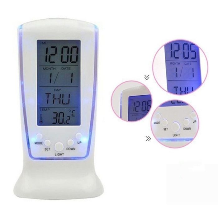 Calendar Clock with Alarm and Thermometer