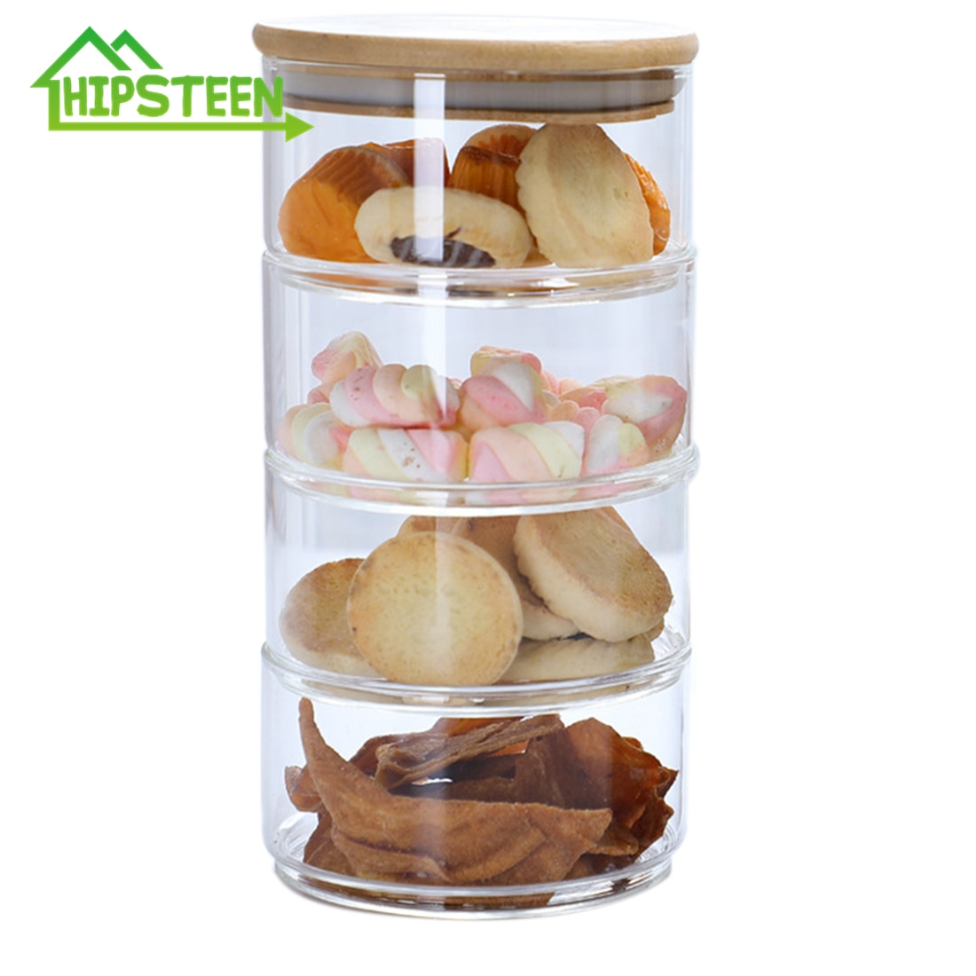 Image result for Cookie Jar Stackable Food Container