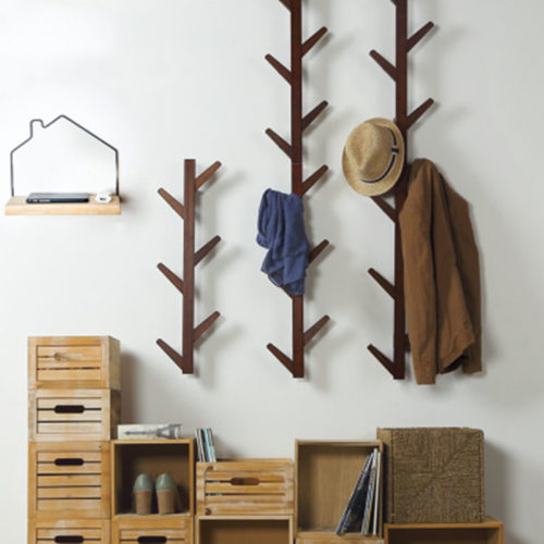 Wall Mounted Coat Rack With 6 Hooks
