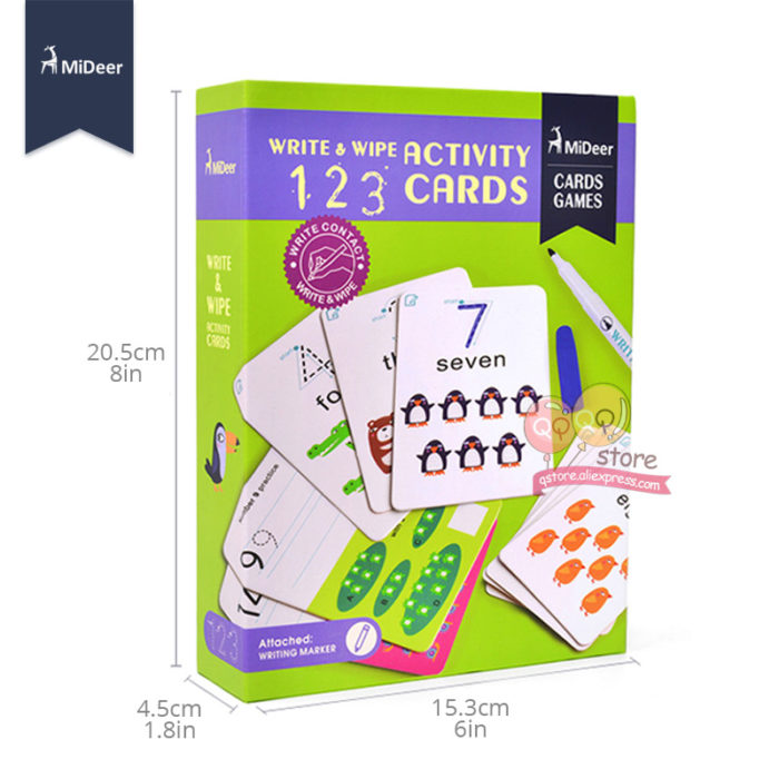 Writing Activities Kids Learning Cards