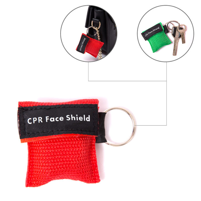 CPR Face Shield with Pouch and Keychain Hook