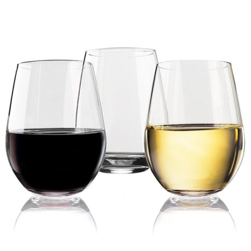 Stemless Wine Glasses 4PC Set