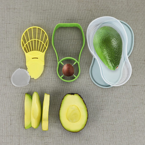 Avocado Cutter Crusher Corer and Storage Set