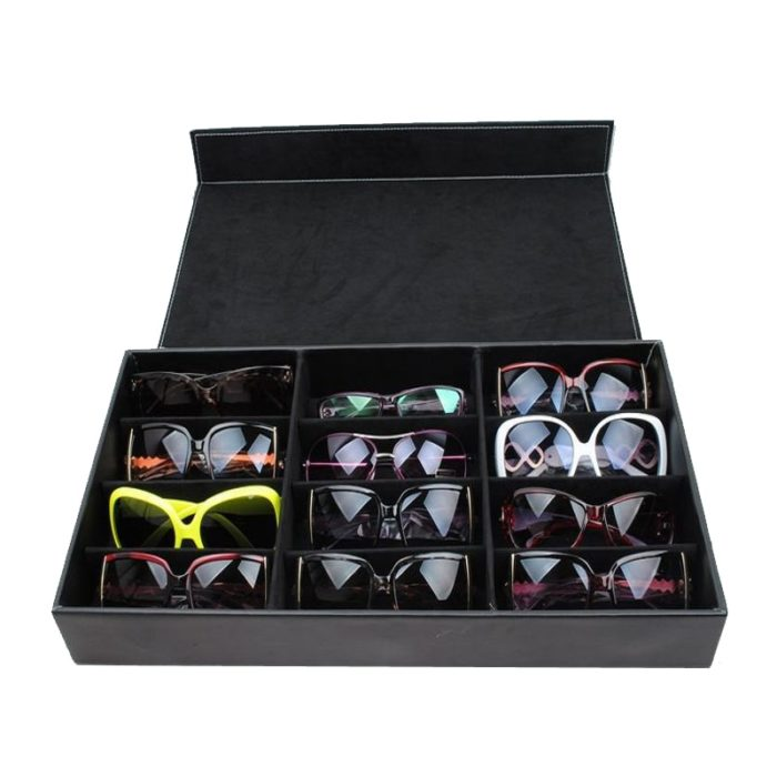 Sunglasses Organizer 12-Slot Storage