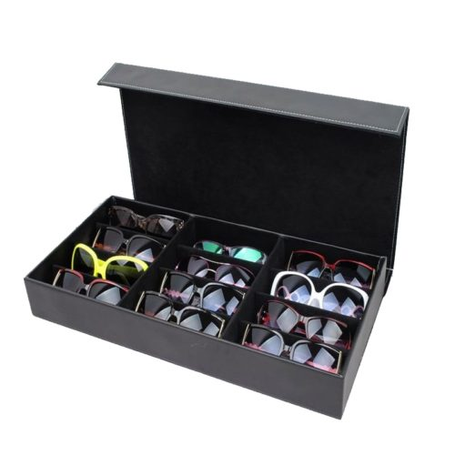 Sunglasses Organizer 12-Slot Storage