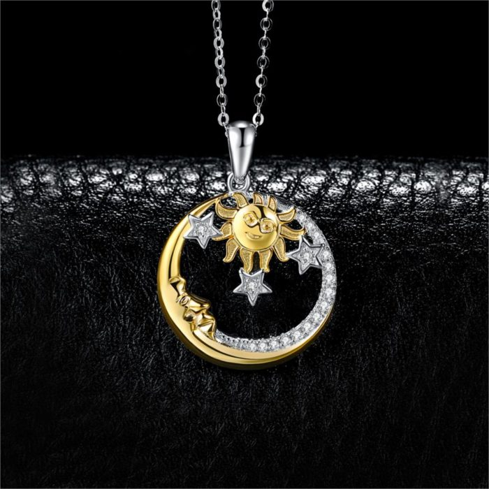 Sun And Moon Necklace Pendant