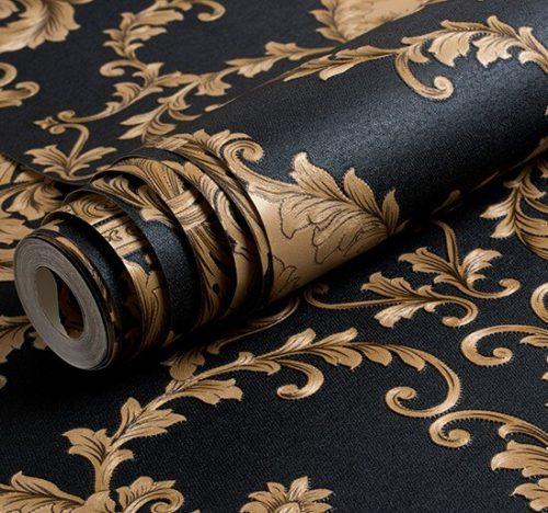 3D Embossed Wallpaper Metallic Cover