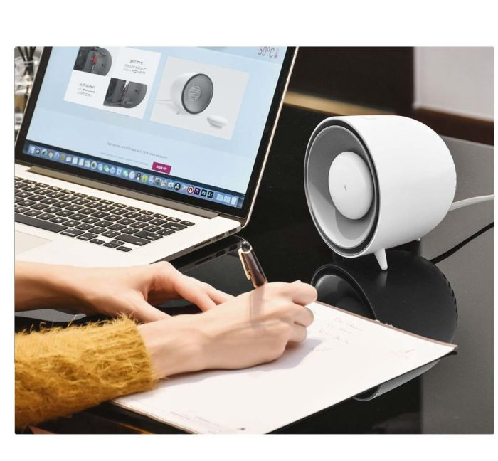 Desk Heater Portable Hand Warmer Fan