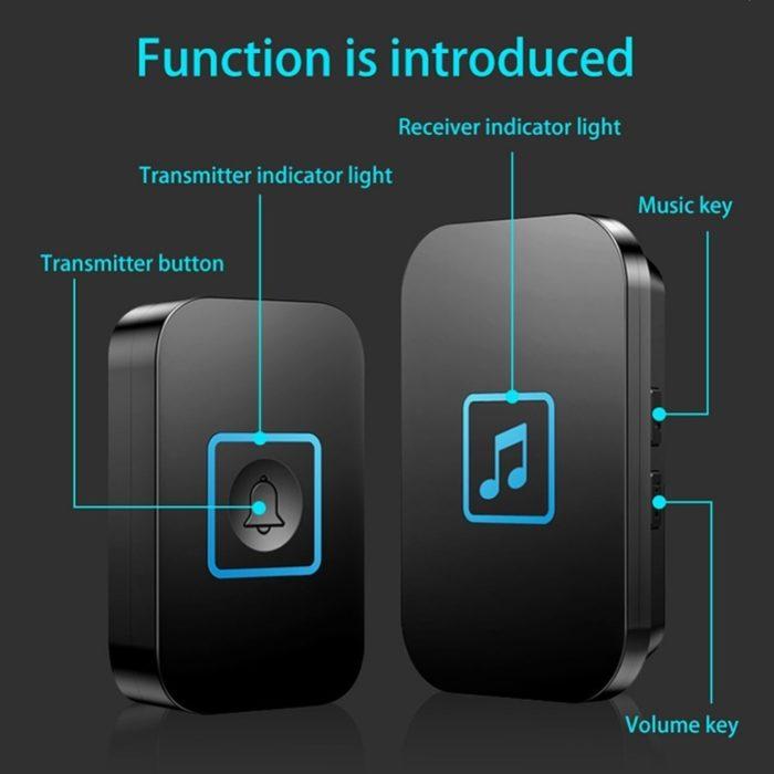 Wireless Door Bell Long Distance Transmission