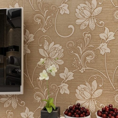 3D Flower Wallpaper Embossed Decoration