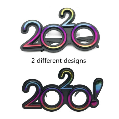 2020 Glasses New Year Props