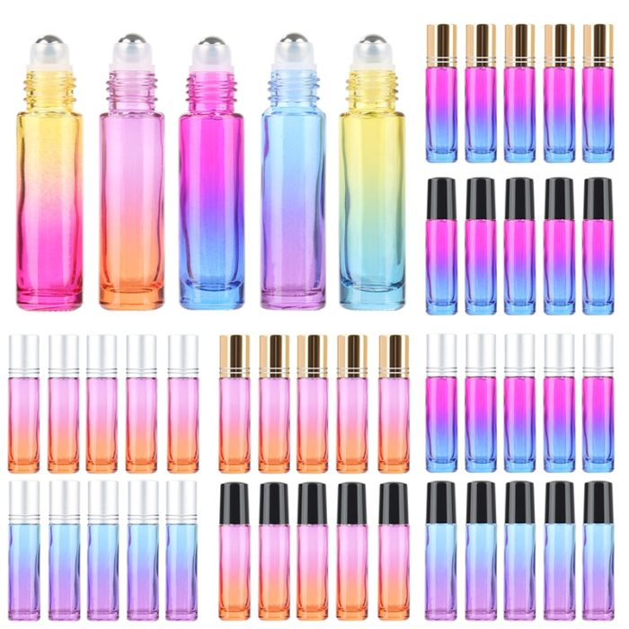 Essential Oil Roller Bottles Multi-Colored`