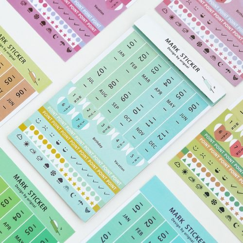 Planner Stickers Color Index Tabs