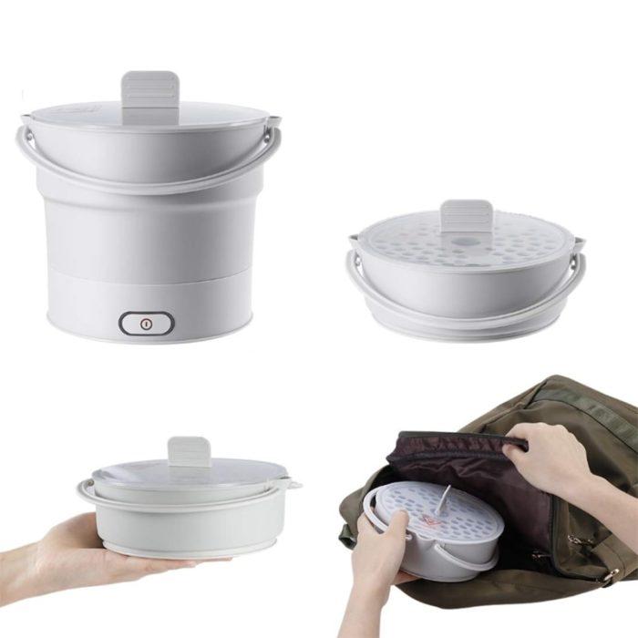 Electric Skillet Mini Foldable Pot