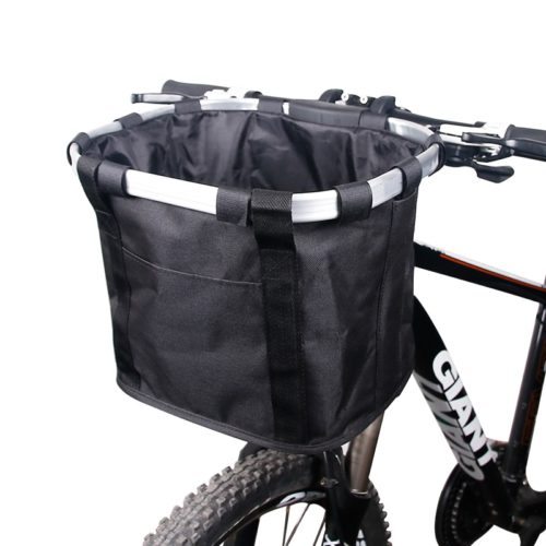 Good thing there is this bike basket that you can install to have extra storage space.