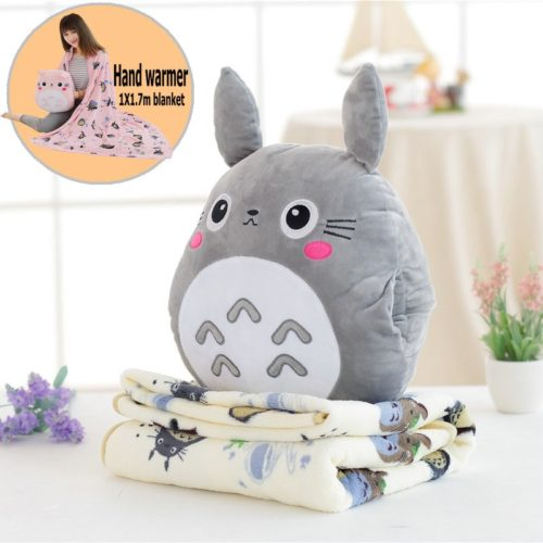 Pillow Blanket Totoro Hand Warmer Plushy