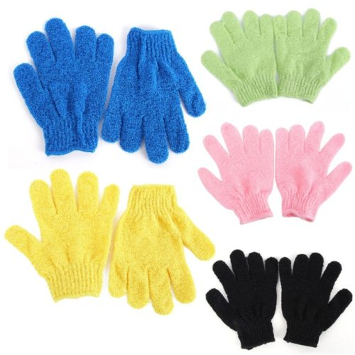 Bath Gloves 1 Pair Exfoliating Scrubber