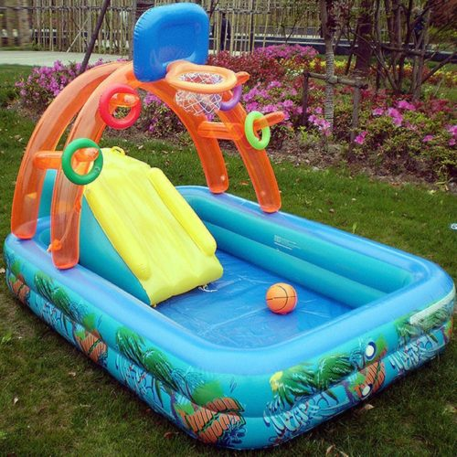 Splash Pool Inflatable with Slide