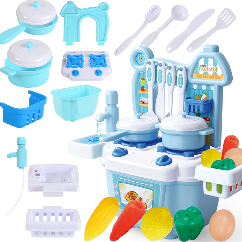 Mini Kitchen Set Kids Cooking Toys Life Changing Products