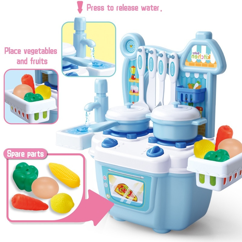 Mini Kitchen Set Kids Cooking Toys