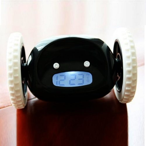 Runaway Alarm Clock with LCD Screen Display