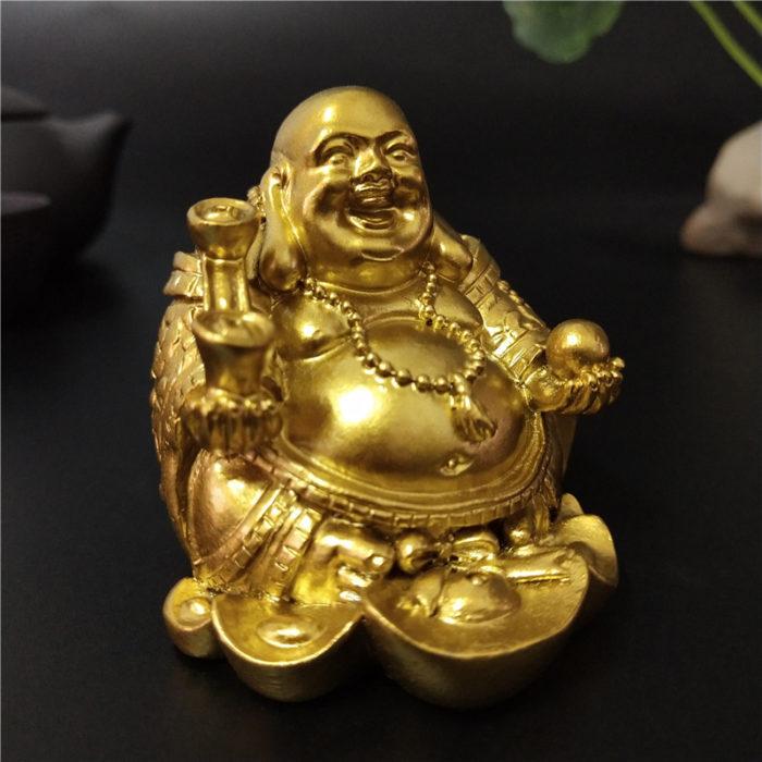 Laughing Buddha Statue Decorative Ornament